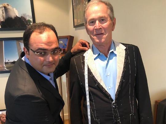 George W. Bush has Pakistani tailor flown in from Karachi