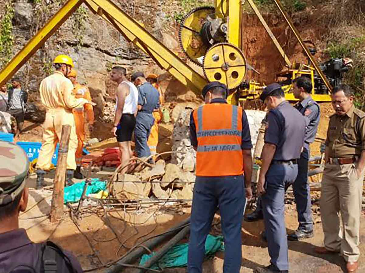 Image result for miner's corpse found after a month in india