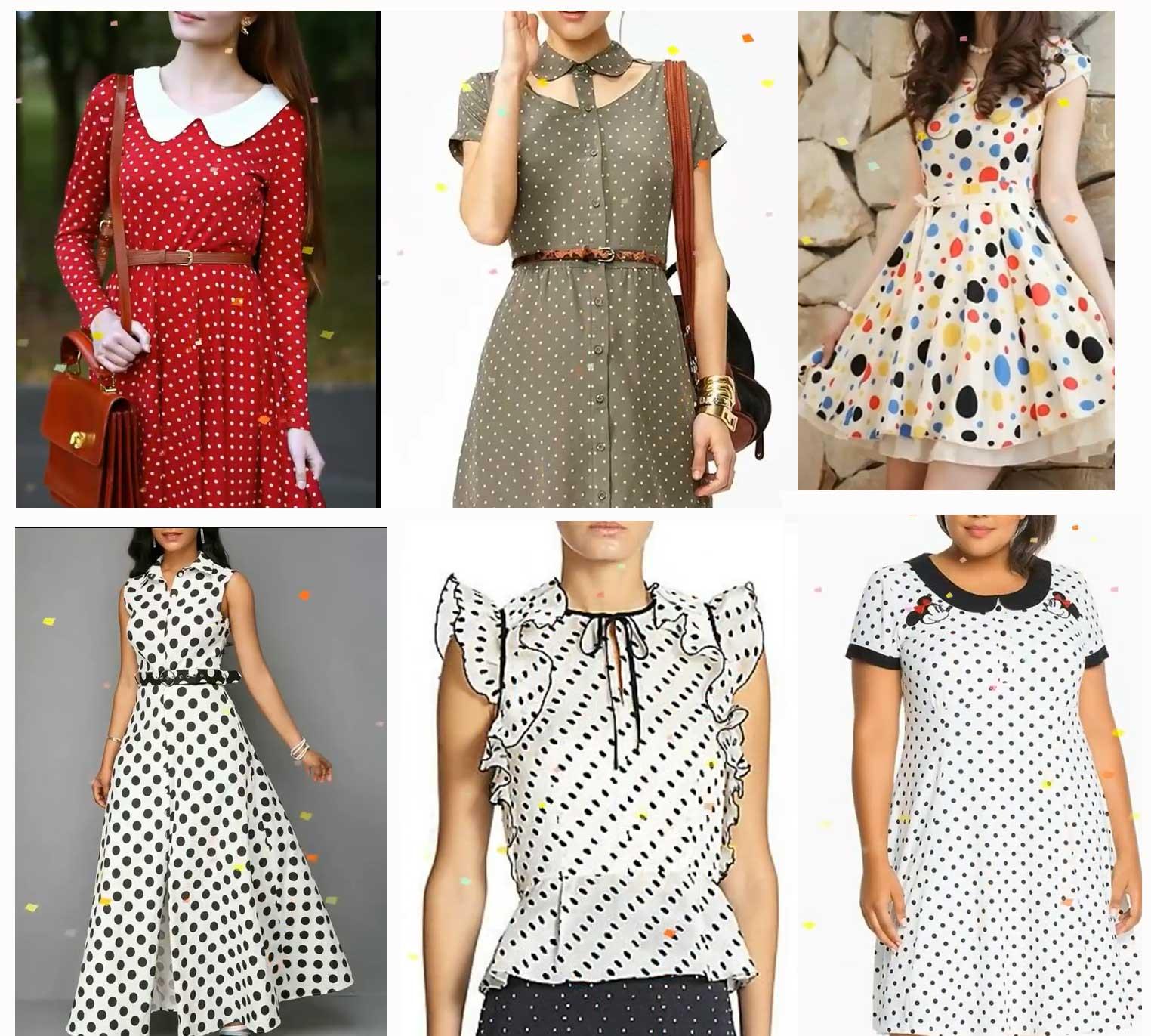 Polka dots dress designs Image Credit: Youtube