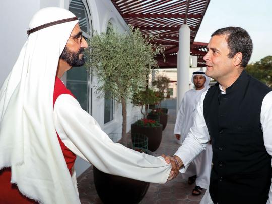 Shaikh Mohammad receives Rahul Gandhi