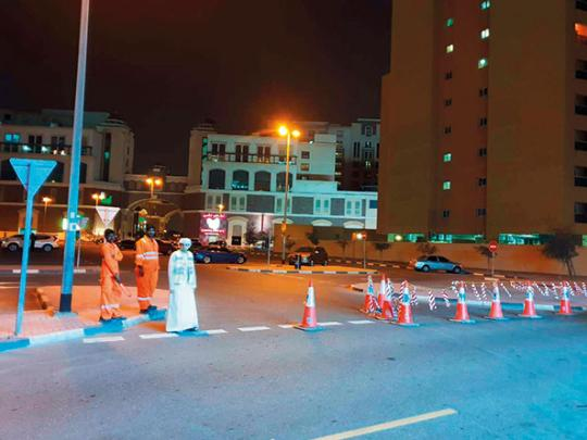 Roadblocks, parking curbs in Oud Metha are on football match days