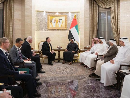 Mohammad Bin Zayed receives US Secretary of State
