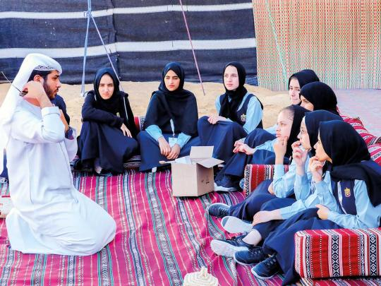 Alternative classroom programme at Liwa school