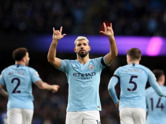 Aguero hits treble as Man City thrash Chelsea