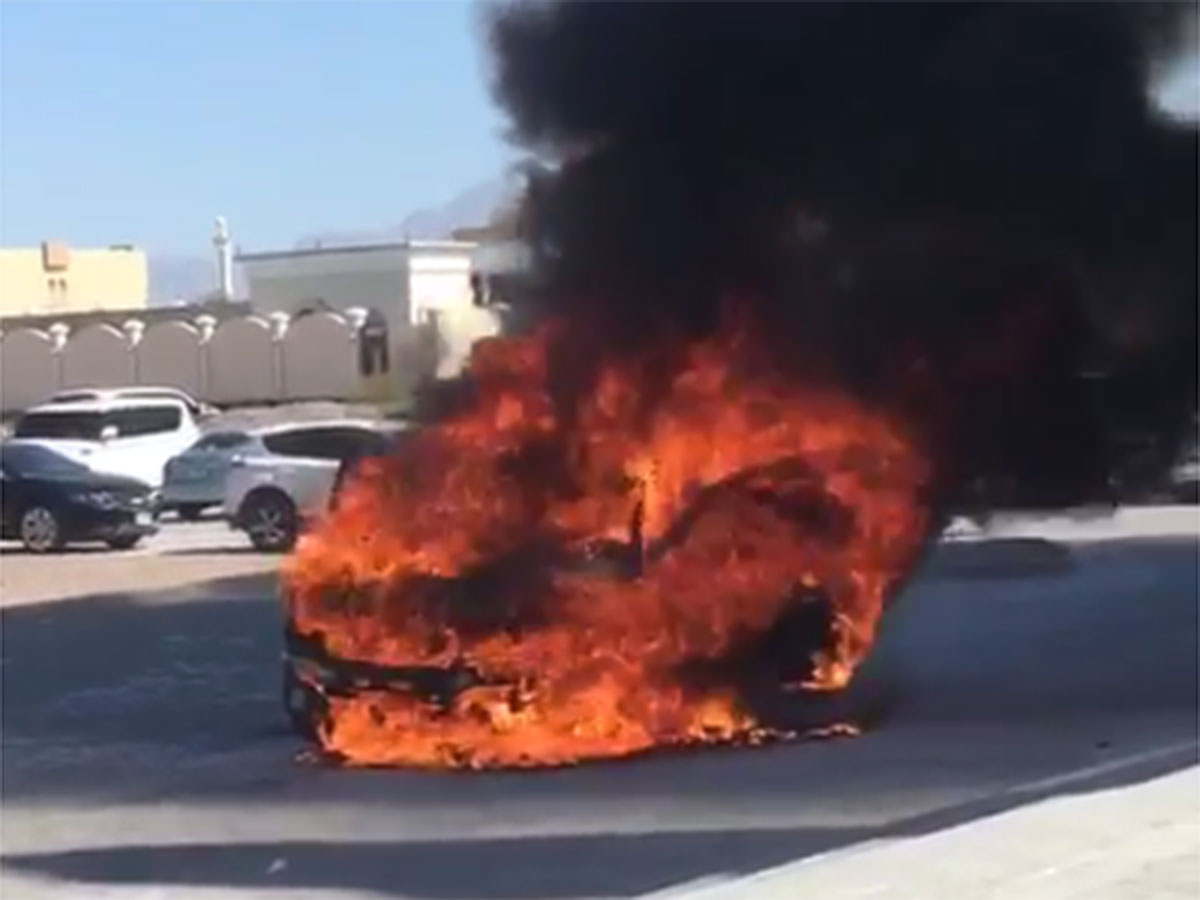 car fire disrupts friday prayers