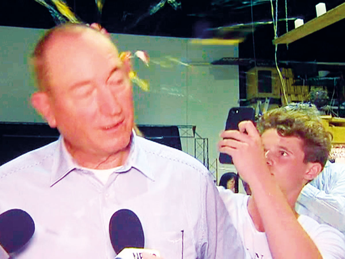 Fraser Anning Twitter: Video: Politician Fraser Anning Hits A Young Protester Who
