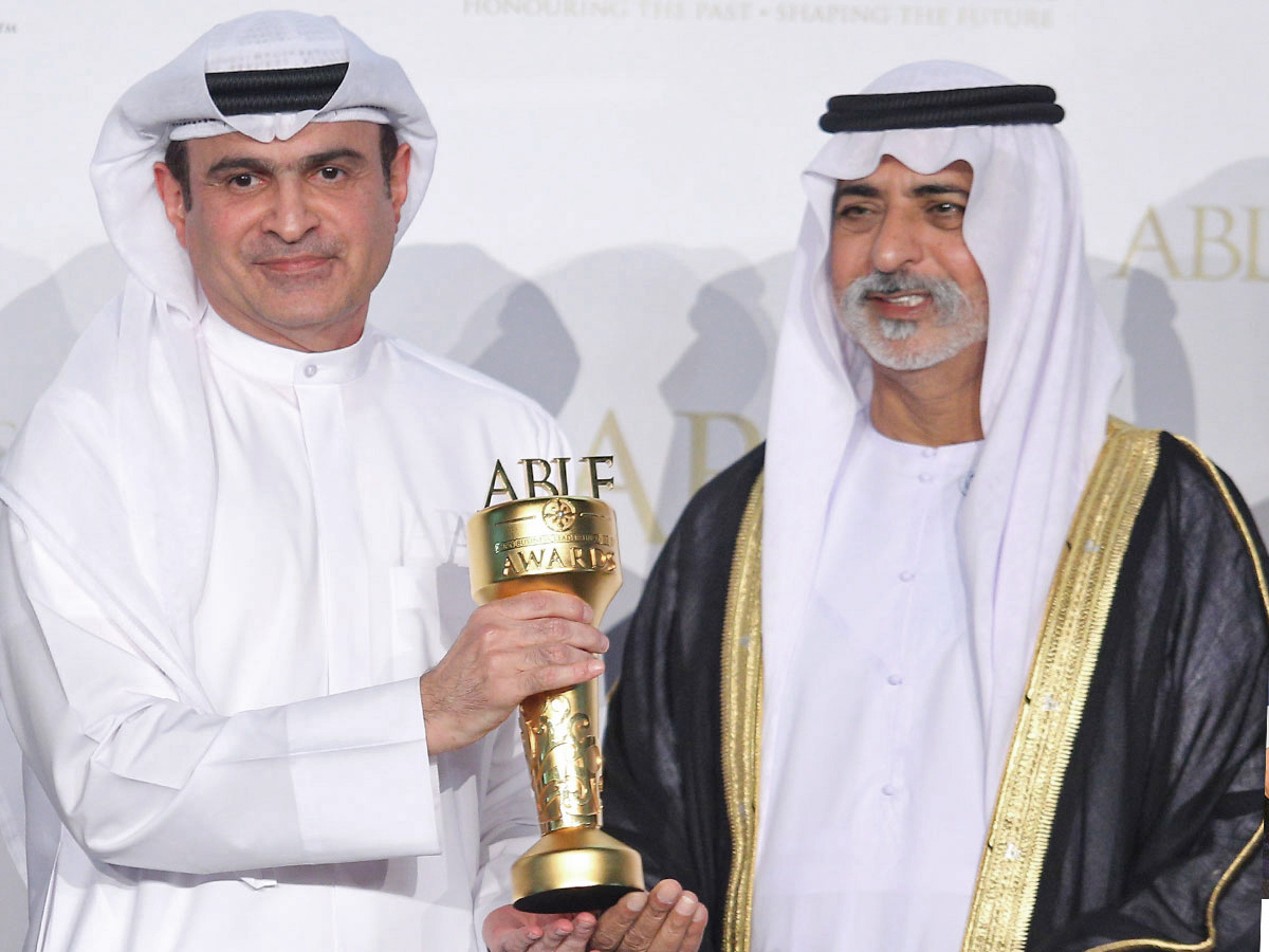 H.E. Sami Al Qamzi and H.H. Sheikh Nahayan Mabarak Al Nahayan