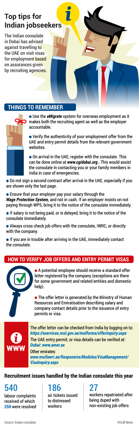 Don't come on visit visas for job hunting, Indians told
