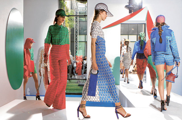 1db3864995 Models displays creations by fashion designers Humberto Leon and Carol Lim  for Kenzo Image Credit: AP