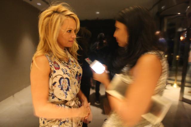 Pamela Anderson Goes Clubbing In Dubai