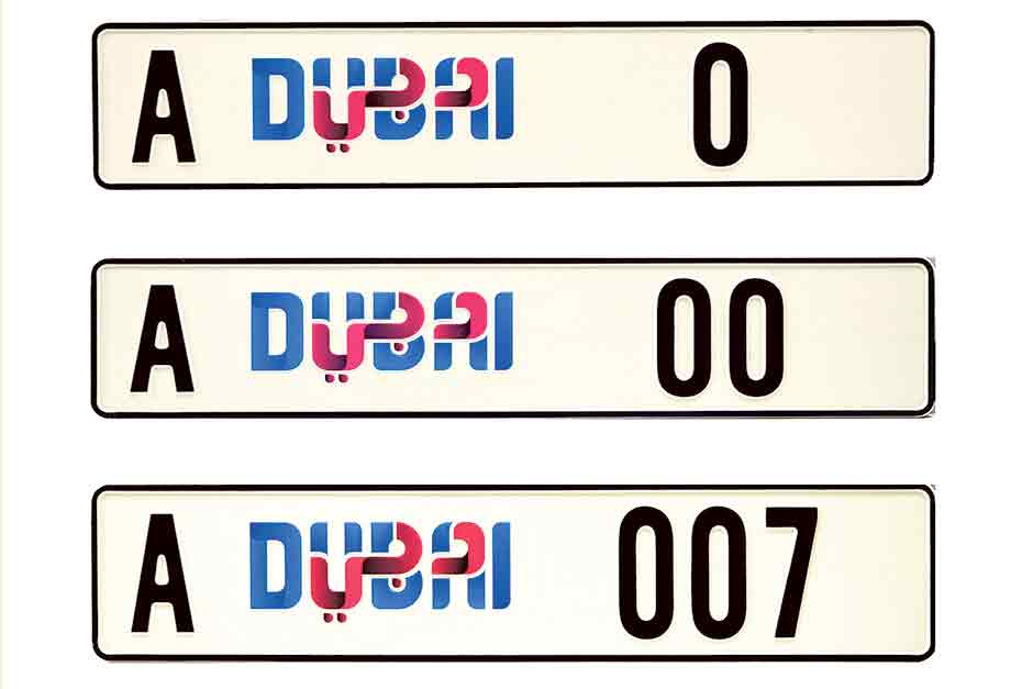 New Car Number Plates For Dubai In May