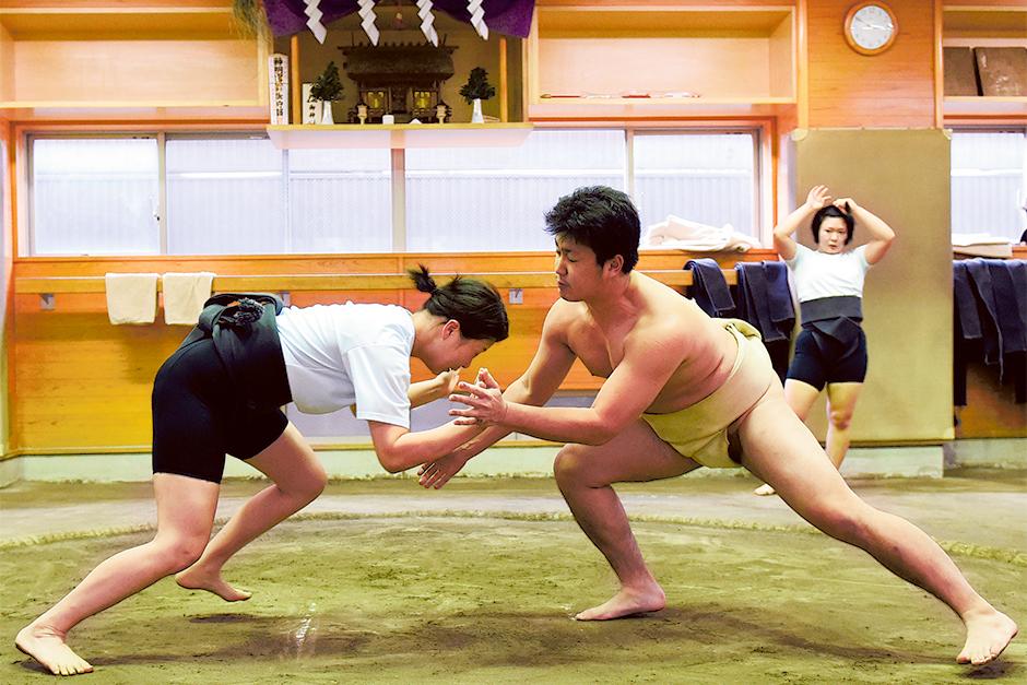 female sumo wrestler