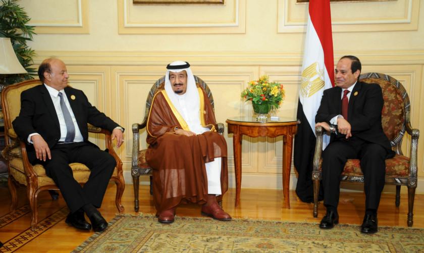 Egyptian President Abdel Fattah Al Sisi R Meets With Saudi King Salman Bin Abdulaziz Saud C And Yemeni Abd Rabu Mansour Hadi L In Sharm