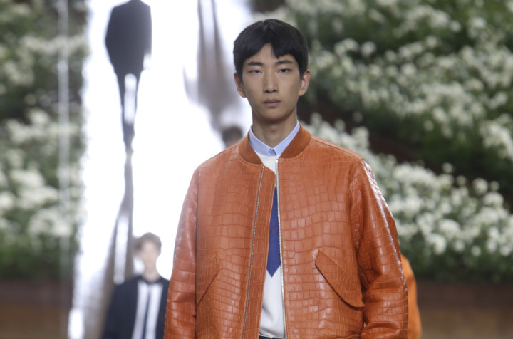 db5fb6f82612 A model wears a creation for Dior Homme men s Spring-Summer 2016 fashion  collection