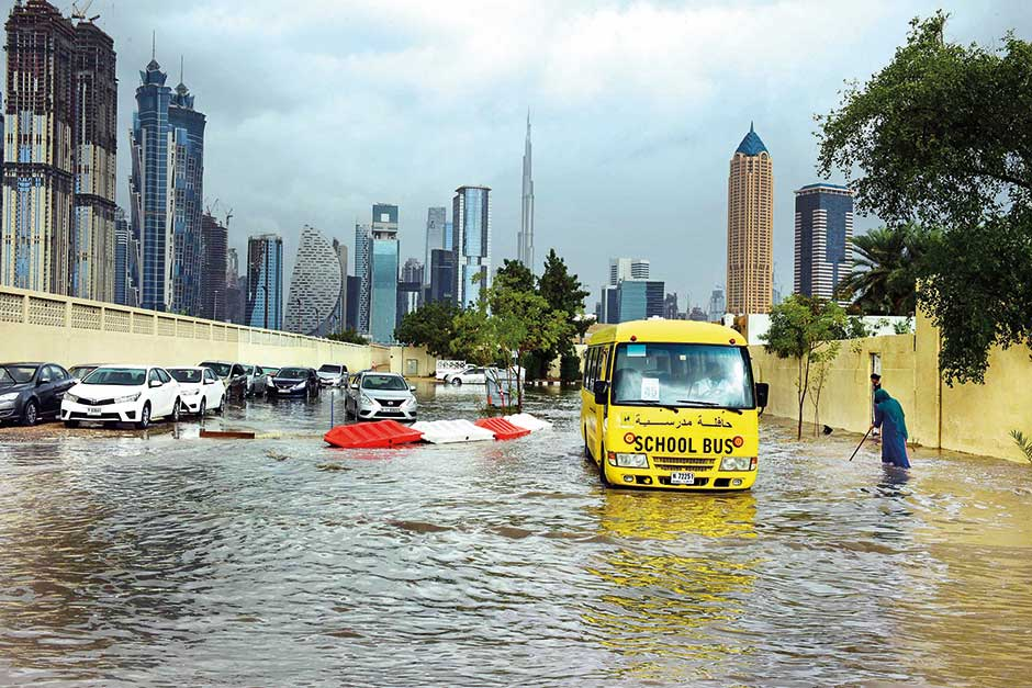 Image result for Heavy rains in schools in the UAE