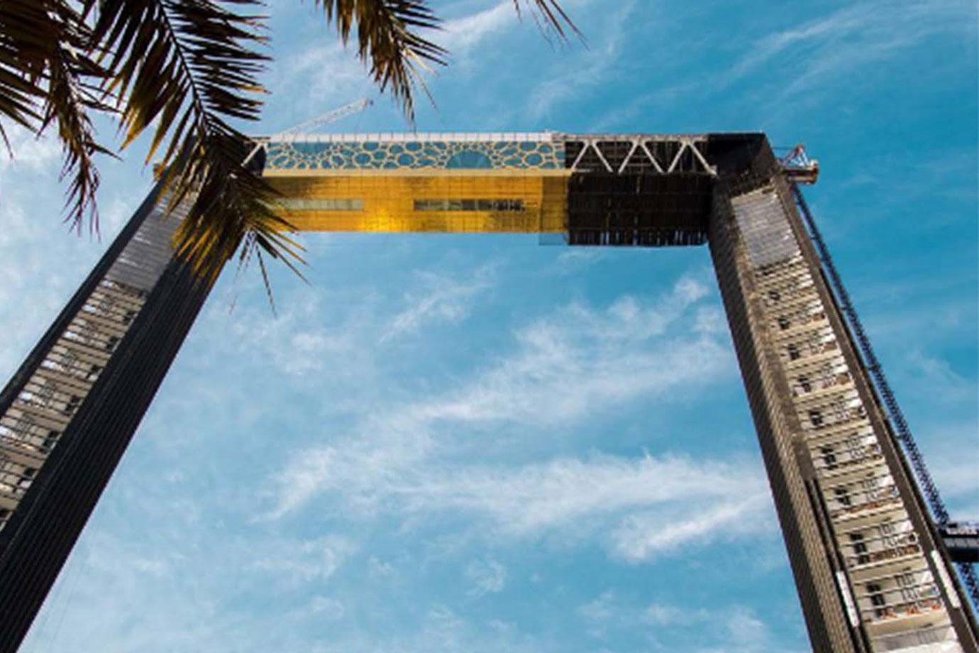 Dubai's newest landmark shines in gold