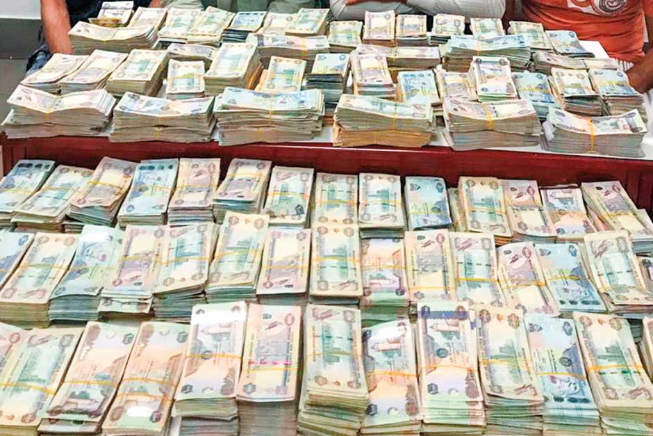 The Huge Amount Of Money Was Robbed From A Transporting Van In Al Muraqqabat Area Last Thursday Image Credit Courtesy Dubai Police