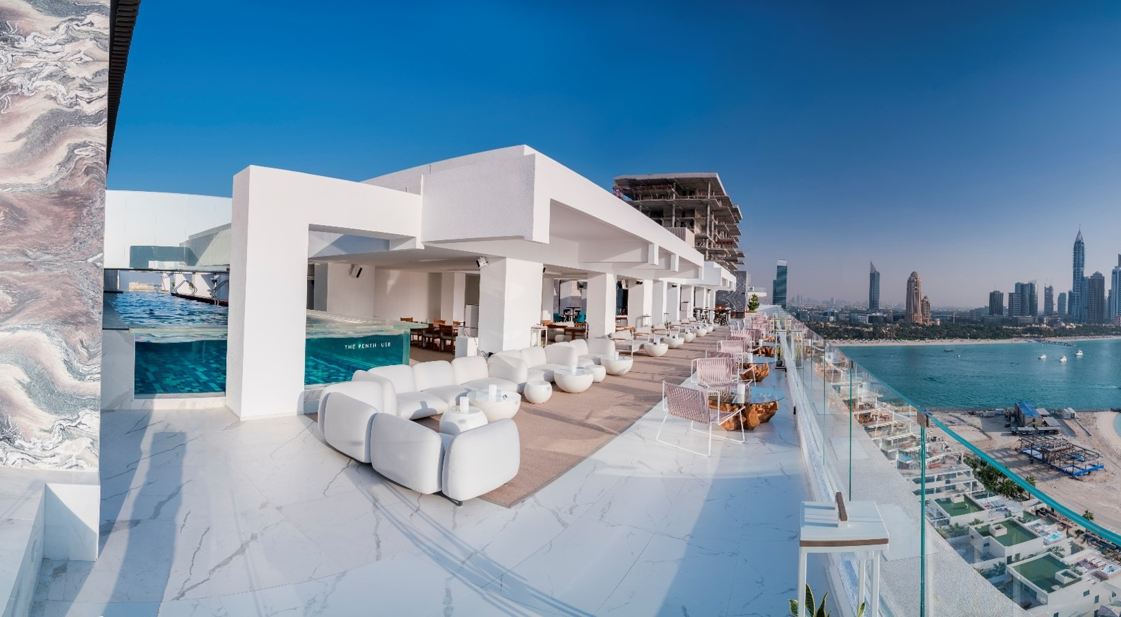 This rooftop pool bar has the best views of Dubai