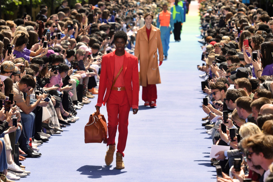 e42920d294b5 Models present creations by Louis Vuitton during the men s Spring Summer  2019 collection fashion show on June 21