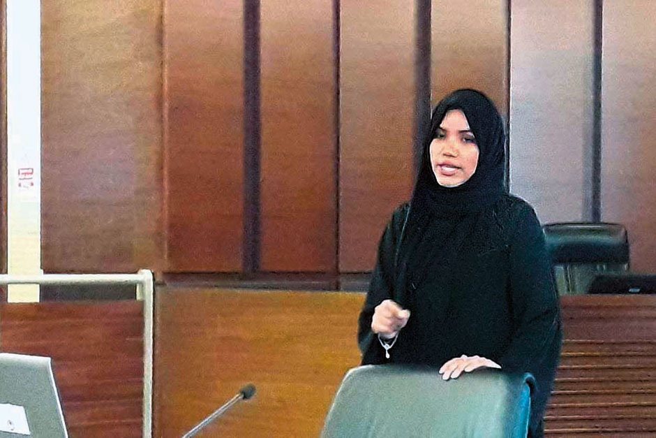 Director Of Family And Childrens Prosecution The Department Aatiqa Al Kusairi At Abu Dhabi Judicial Briefs Media On Crimes