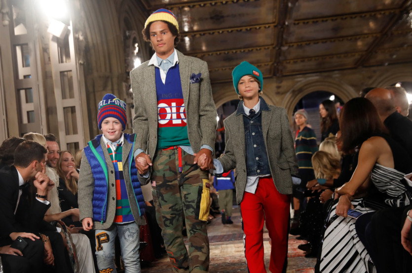 d98bf4664c6 Ralph Lauren marks 50th anniversary with show